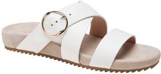Banana Republic Leather Buckle Slide Sandal