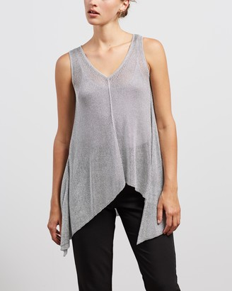 Sass & Bide Women's Silver Evening Tops - Second Symphony Knit Tank - Size S at The Iconic