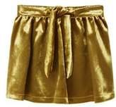 MANGO Pleated velvet skirt