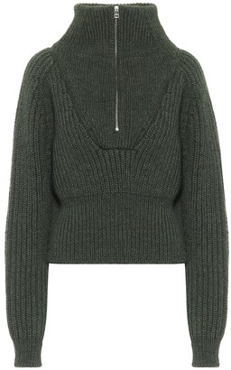 Jacquemus La Maille Olive wool-blend sweater
