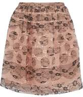 RED Valentino Layered Lace And Silk-Organza Mini Skirt