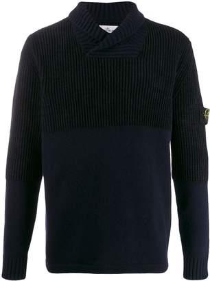Stone Island logo knitted sweatshirt