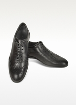Moreschi Black Leather Wingtip Sneaker Shoes