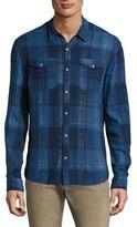 John Varvatos Western Heathered Cotton Shirt