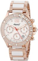 Ingersoll Women's IN7217WHMB Golden State Analog Display Automatic Self Wind Two Tone Watch