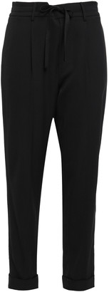Vince Cropped Stretch-crepe Tapered Pants