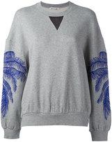 Stella McCartney feather print sweatshirt - women - Cotton/Polyamide/Viscose - 38