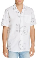Soulland Cornwall Graffiti Print Slim Fit Button-Down Shirt