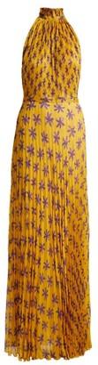 Raquel Diniz Giovanna Floral-print Silk Gown - Womens - Yellow Print