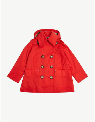 Burberry Merel cotton trench coat 3-14 years
