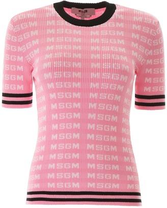 MSGM Monogram Short-sleeved Sweater