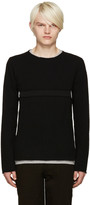 Comme des Garcons Black Cut-Out Sweater