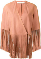 Drome fringed jacket - women - Leather/Cupro - XS