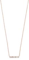 Ef Collection Diamond White Topaz Mini Bar Necklace