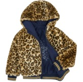 Catimini Reversible jacket with a faux fur lining
