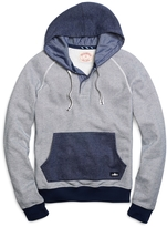 Brooks Brothers Button-Front Placket Hoodie