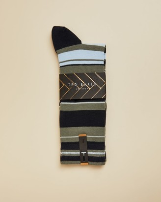 Ted Baker Cotton Striped Socks