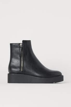 H&M Wedge-heel Boots - Black