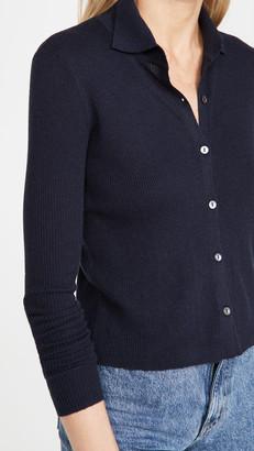 Autumn Cashmere Cropped Rib Cashmere Cardigan