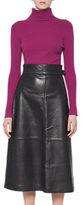 French Connection Annie Leather Midi Skirt, Black
