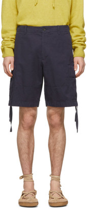 Lanvin Navy Cargo Shorts