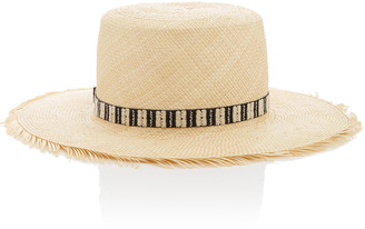Yestadt Millinery Compass Frayed Straw Hat
