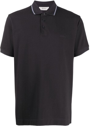 Ermenegildo Zegna Stripe Detail Polo Shirt