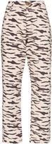 REJINA PYO Sofia tiger-print straight-leg jeans