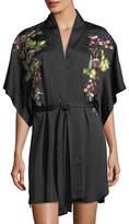 Natori Alyssa Embroidered Short-Sleeve Robe