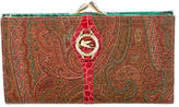Etro Embossed Leather-Accented Wallet
