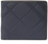 Burberry Embossed Check Bifold Wallet