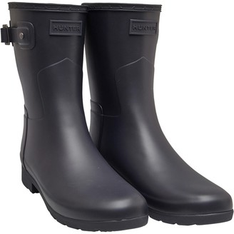 Hunter Womens Refined Short Wellington Boots Delta