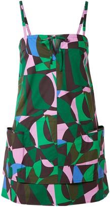 Tomas Maier Printed Cotton-poplin Mini Dress