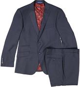 English Laundry Blue Windowpane Slim Fit Suit Jacket & Pants