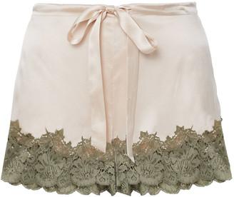 Ginia Lace-trimmed Silk-satin Pajama Shorts