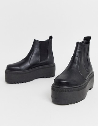 ASOS DESIGN Amplify chunky chelsea boots in black