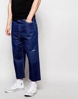 Asos Wide Leg Jeans In Indigo