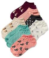 Old Navy 7-Pack Printed Ankle Socks for Women