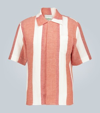 Casablanca Jolie striped linen shirt
