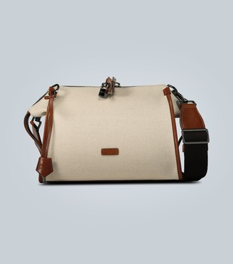 Dolce & Gabbana Leather-trimmed canvas travel bag