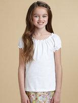 Oscar de la Renta Girl's Knit Peasant Top