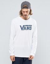 Vans Classic Logo Ls T-shirt In White V002orkgv