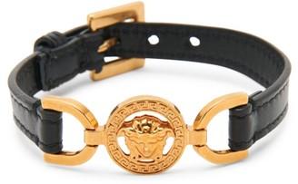 Versace Rodeo Queen V-Western Medusa Leather Belt Bracelet