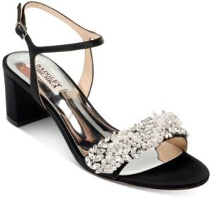 Badgley Mischka Clair Low-Heel Evening Sandals Women's Shoes