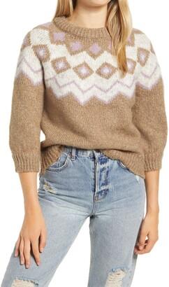Vero Moda Fairs Fair Isle Crewneck Sweater