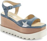 Stella McCartney Star Platform Wedge Sandal (Women)