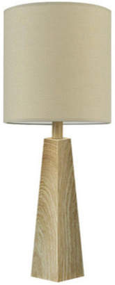"""Globe Electric Monterey 25"""" Faux Wood Table Lamp, LED Bulb Included"""