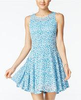 Be Bop Juniors' Two-Tone Swirl Lace Dress