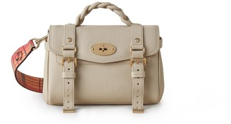 Mulberry Mini Alexa Chalk Heavy Grain Leather