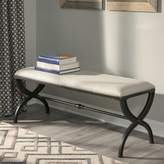 Donny Osmond Home Industrial Accent Bench in Beige with Black Base